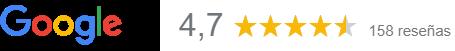 reseña de Google de 4,7 estrellas